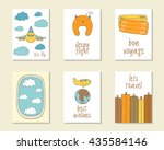cute doodle travel  flight... | Shutterstock .eps vector #435584146