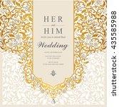 wedding card  invitation card ... | Shutterstock .eps vector #435585988