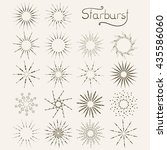 set of vintage style starburst...   Shutterstock .eps vector #435586060