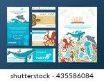 corporate underwater wild life... | Shutterstock .eps vector #435586084