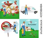 pest control concept with... | Shutterstock .eps vector #435588484