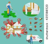 pest control concept with... | Shutterstock .eps vector #435588520