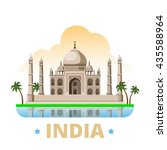 india country magnet design... | Shutterstock .eps vector #435588964