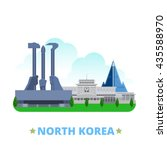 north korea country flat... | Shutterstock .eps vector #435588970