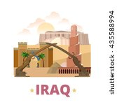 iraq country design template.... | Shutterstock .eps vector #435588994