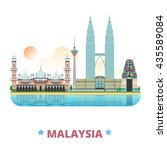 malaysia country design... | Shutterstock .eps vector #435589084