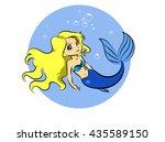 mermaid | Shutterstock .eps vector #435589150