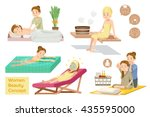 women beauty concept. spa... | Shutterstock .eps vector #435595000