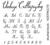 vintage calligraphic script... | Shutterstock .eps vector #435596170