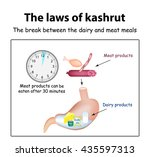 the laws of kosher. the break... | Shutterstock .eps vector #435597313