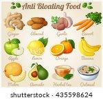 set of cartoon food icons. anti ... | Shutterstock .eps vector #435598624