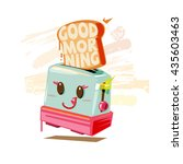 toaster cute character and ...   Shutterstock .eps vector #435603463