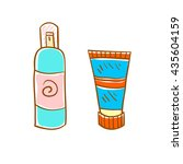 hand drawn deodorant and body...   Shutterstock .eps vector #435604159