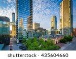 modern buildings along...   Shutterstock . vector #435604660
