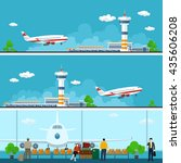 airport horizontal banners ... | Shutterstock .eps vector #435606208