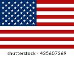 united state of america flag.... | Shutterstock .eps vector #435607369