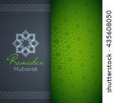 ramadan mubarak greeting card...   Shutterstock .eps vector #435608050