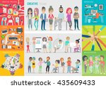 creative team set. vector... | Shutterstock .eps vector #435609433