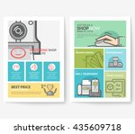 business brochure flyer design... | Shutterstock .eps vector #435609718