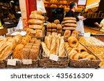 Bread Counter At The Mahane...