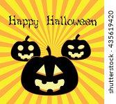 happy halloween poster. vector... | Shutterstock .eps vector #435619420