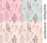 fern seamless pattern.... | Shutterstock .eps vector #435622504