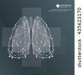 lungs symbol   vector... | Shutterstock .eps vector #435623170