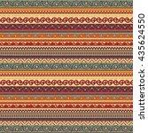 geometric ethnic ornament...   Shutterstock .eps vector #435624550