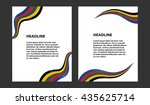 abstract vector modern flyers... | Shutterstock .eps vector #435625714