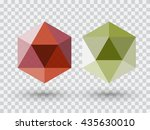 red and green diamond light... | Shutterstock .eps vector #435630010