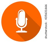microphone vector icon  orange... | Shutterstock .eps vector #435631666
