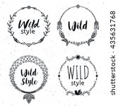hand drawn boho design elements ... | Shutterstock .eps vector #435631768