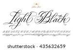 hand drawn vector calligraphy... | Shutterstock .eps vector #435632659