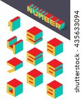 collection of the isometric... | Shutterstock .eps vector #435633094