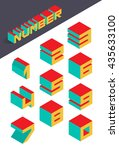 collection of the isometric... | Shutterstock .eps vector #435633100
