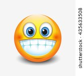 cute smiling  grinning emoticon ... | Shutterstock .eps vector #435633508
