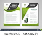 front and back page brochure... | Shutterstock .eps vector #435633754