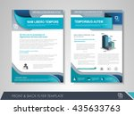 front and back page brochure... | Shutterstock .eps vector #435633763
