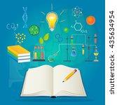 school concept infographics...   Shutterstock .eps vector #435634954