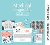 medical diagnostics concept.... | Shutterstock .eps vector #435635620