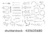 vector arrows and pointers set. | Shutterstock .eps vector #435635680