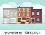 flat houses | Shutterstock .eps vector #435635734