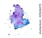 colorful abstract watercolor... | Shutterstock .eps vector #435636070