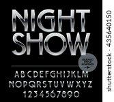 vector set of alphabet letters  ... | Shutterstock .eps vector #435640150