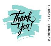 thank you handwritten... | Shutterstock .eps vector #435640546