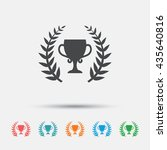 first place cup award sign icon.... | Shutterstock .eps vector #435640816