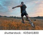 athletic man running outdoor ... | Shutterstock . vector #435641800