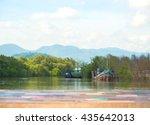 wood material  desktop wood ... | Shutterstock . vector #435642013