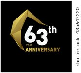 63th anniversary logo with... | Shutterstock .eps vector #435642220