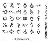 set of garden line icons | Shutterstock .eps vector #435642964